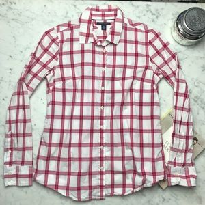 Tommy Hilfiger Check Print Long Sleeve Button Down